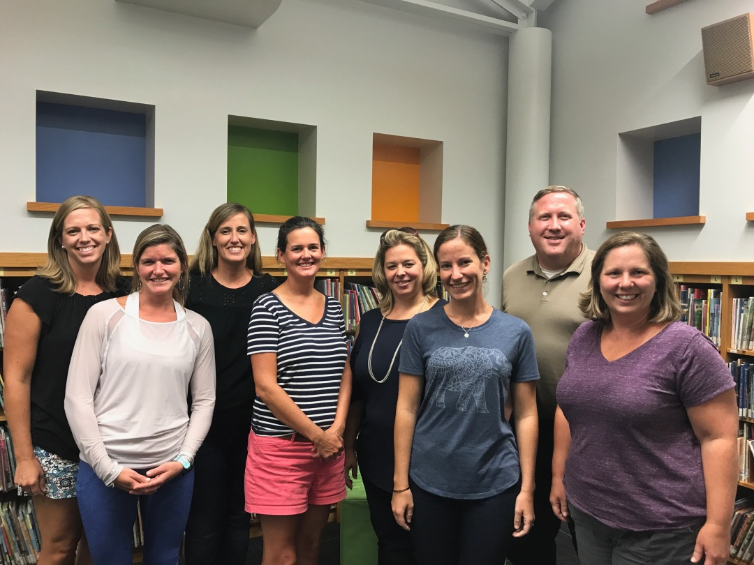 A photo of the 8 members of the Hollymead PTO Board.